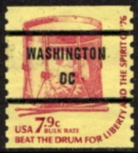 US Stamp #1615x71 - Drum - Americana Issue Coil Precancel