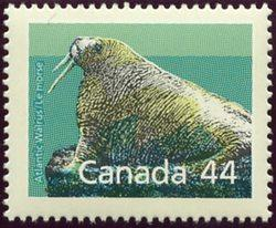 Canada USC #1171i Mint Perf. 14.4 x 13.8 VF-NH Cat. $4.50 1989 44c Atlant Walrus