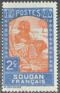 DYNAMITE Stamps: French Sudan Scott #62 – UNUSED