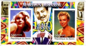 MARILYN MONROE Souvenir Sheet Imperforated Mint (NH)