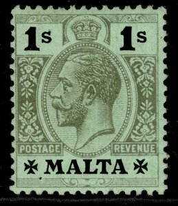 MALTA GV SG81c, 1s black/green emerald surface, VLH MINT.