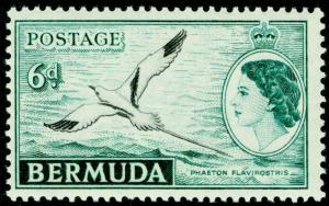 BERMUDA SG143, 6d black & deep turquoise, NH MINT.