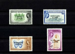 BRITISH HONDURAS - 1953 - QE II - HURRICANE HATTIE - RELIEF ++ MINT - MNH SET!