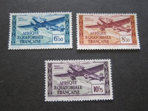 French Equatorial Africa 1937 Sc C6-8 MH