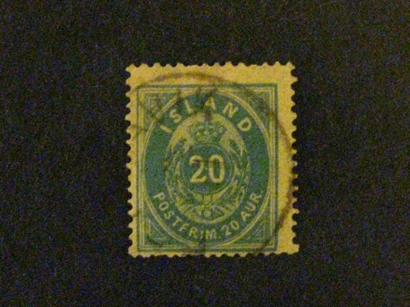 Iceland #17 used short perf at top c203 402