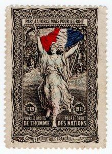 (I.B) Argentina (Great War) Cinderella : France Patriotic Fund 2c