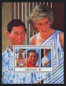 Grenada 2015 MNH Charles & Diana, Princes Harry & William