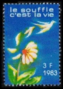 FRANCE 1983 VIGNETTE 3 Fr MH LE SOUFFLE C'EST LA VIE CINDERELLA