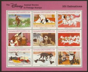Grenada Grenadines 988 MNH Disney, 101 Dalmations, Dogs, Horse, Car, Cat