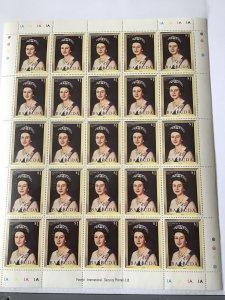 Barbuda Queen Elizabeth 11 mint never hinged stamps sheet ref R23560