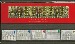 1989 CHRISTMAS-ELY CATHEDRAL 1189-1989 PRESENTATION PACK 203