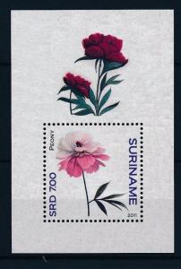 [SU1799] Suriname Surinam 2011 Flowers Roses Peonies Souvenir Sheet MNH