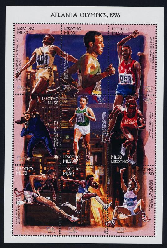 Lesotho 1052 MNH Olympic Games, Sports, Athletics