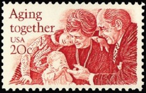 2011 Aging Together F-VF MNH single