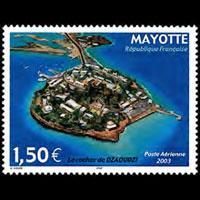 MAYOTTE 2003 - Scott# C6 Dzaoudzi Rocks Set of 1 NH