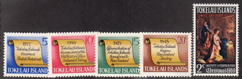 Tokelau Islands - 1969 - SC 16-20 - NH - Complete set+1