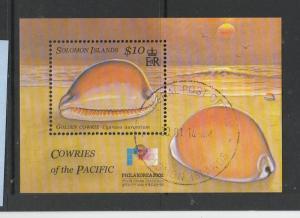 Solomons 2002 Philakorea , Cowrie shell, MS VFU/CTO SG MS1033