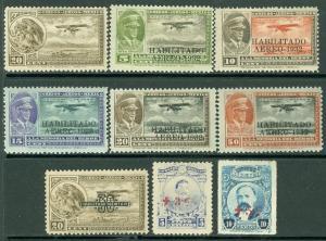 EDW1949SELL : MEXICO 1918-32 Sc #C13, 40-44, 46 Also B1-2 VF, Mint OG Cat $169