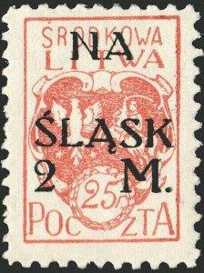 CENTRAL LITHUANIA / MITTELLITAUEN - 1921 Mi.23A 2M/25f Mint* - ref.881e