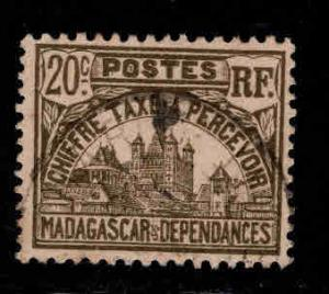 Madagascar Scott J12 Used Postage due stamp