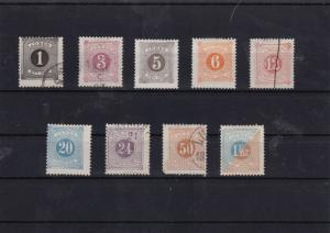 sweden 1874 postage dues stamps used+unused  cat £200   ref 7089
