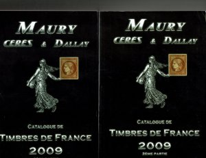 Maury Catalogue of the Stamps of France,  2009