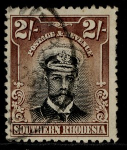 SOUTHERN RHODESIA GV SG12, 2s black & brown, USED. Cat £20.