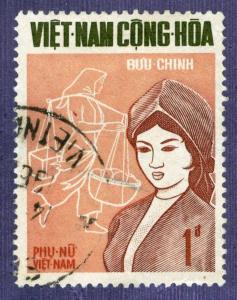 Vietnam - SC #344, USED ,1969 - Item VIETNAM215NS5