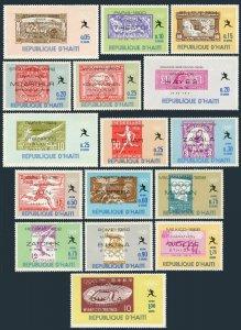 Haiti 616A-616O.Mi 1028-1043. Olympic Marathon Winners,1969.Stamps of the World.