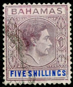 BAHAMAS SG156e, 5s red-purple & deep bright blue, FINE USED. Cat £24.