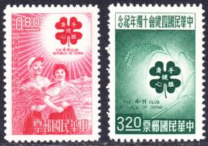 China Scott 1363-1364   F to VF mint no gum as issued.