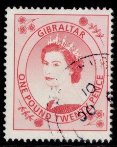 GIBRALTAR QEII SG869a, 1999 £1.20 bright carmine, FINE USED.