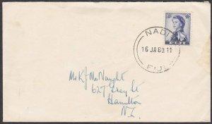 FIJI 1960 cover to NZ ex NADI...............................................R552
