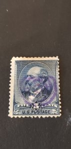 US #216 Used Fancy Cancel