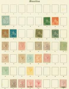 Mauritius Early Mint Classics Stamp Collection on Old Imperial Pages CV £11,000