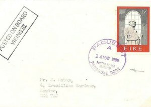 GB Cover WALES PAQUEBOT MARITIME *Pembroke Dock* EIRE Viking III 1980 GN284