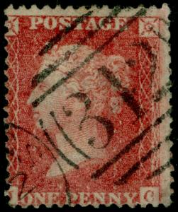 SG40, 1d rose-red PLATE 37, LC14, USED. Cat £35.