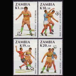 ZAMBIA 1990 - Scott# 507-10 W.Cup Soccer Set of 4 NH
