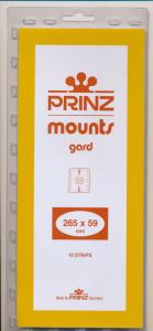 Prinz Scott Stamp Mount 59/265 CLEAR Background Pack of 10