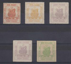 BC STELLALAND 1884 COAT OF ARMS Sc 1-3, 5 TOP VALUE FORGERIES MINT/UNSD (CV$420)