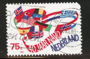 Netherlands Scott 743 Used 1989 NATO stamp