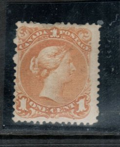 Canada #23 Mint Fine Original Gum Hinged - Pulled Perfs