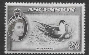 ASCENSION SG67 1956 2/6 BLACK AND DULL PERPLE MTD MINT