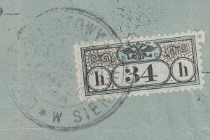 West Ukraine - 18.2.1902 Power of Attorney using 34h fiscal stamp