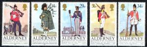 Alderney Sc# 23-27 MNH 1985 Uniforms