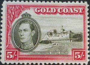 Gold Coast 1938 GVI Five Shillings perf 12 SG 131 mint