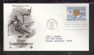 US Special Olympics 1985 PCS Typed FDC BIN