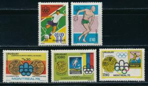 Uruguay - Montreal Olympic Games MNH 2X Diff Sets (1976) $30