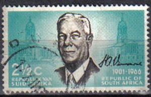 SOUTH AFRICA, 1966, used 2½c, Verwoerd Commemoration.