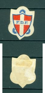 Denmark. Poster Stamp 1930-60s. F.D.F. Scouts. Logo
